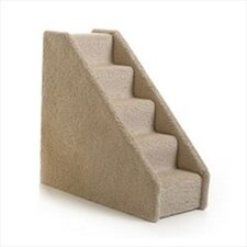 Small Solid Side Pet Stairs - Six Step