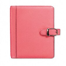 Pink Ribbon Organizer Starter Set with Leather Binder, 5-1/2 x 8-1/2, Pink, 2012