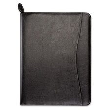 Green Series Basque Leather Wirebound Organizer Starter Set, 8 1/2 x 11, Black