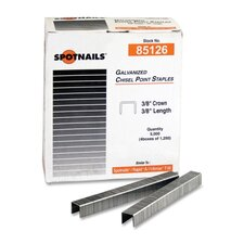 "Staples, Chisel Point, 3/8"" Crown, 38"" Length, 5000 per Box"