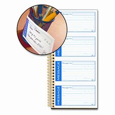'N Stick Phone Message Pad, 2 3/4 X 4 3/4, Two-Part Carbonless, 200 Forms