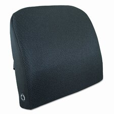 Memory Foam Massage Lumbar Cushion, 12-3/4W X 3-1/2D X 12-1/2H