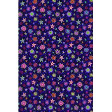 Fluorescent Starburst Novelty Rug