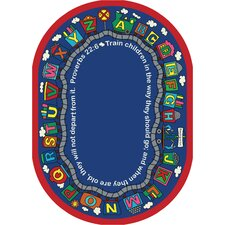 Faith Based Bible Train Kids Rug