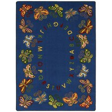 Educational Butterfly Delight Kids Rug