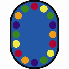 Educational Lots of Dots Kids Rug