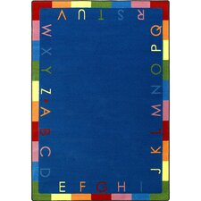 Educational Rainbow Alphabet Kids Rug