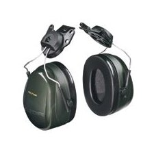 H7 Deluxe Performance Series Helmet Hearing Protector Green With Fluid Foam Filled Cushion