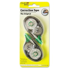 "Mono Correction Tape, Non-Refillable, 1/6"" X 394"", 2/Pack"