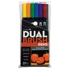 Dual Brush Primary Pen (Set of 6)