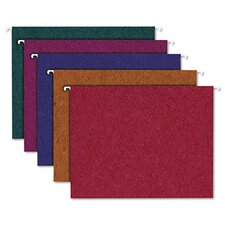 Pendaflex Earthwise Envirotec Recycled Colored Hanging File Folders, Letter, 20/Box
