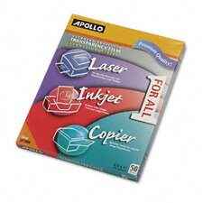 Multipurpose Transparency Film, Letter, 50/Box