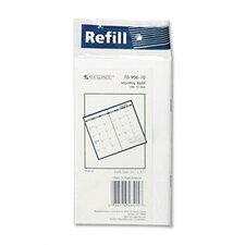 Deluxe Pocket Monthly Planner Refill, 3-1/2 x 6-1/8, 2013