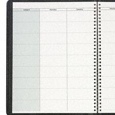 Undated Teachers' Planner 10-7/8 x 8-1/4, Black