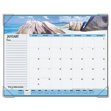 Panoramic Seascape Monthly Desk Pad Calendar, 22 x 17, 2013