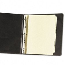 Gold Reinforced Laminated Tab Dividers (31 Tabs, 31 Sets/ Box)