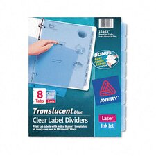 Index Maker Clear Label Punched Dividers (8 Tabs, 5 Sets/Pack)