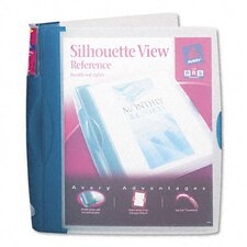 "Silhouette Poly View Binder with Inside Pocket, 1"" Capacity"