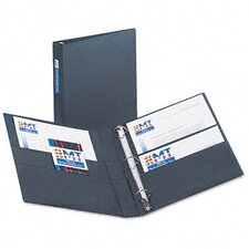 "Heavy-Duty Vinyl Ezd Ring Reference Binder, Label Holder, 1"" Capacity"