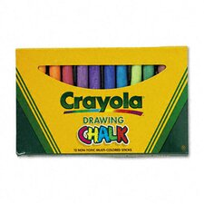 Colored Drawing Chalk (12 Sticks/Set)
