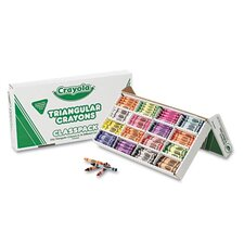 Classpack Triangular Crayons (16 Colors, 256/Box)
