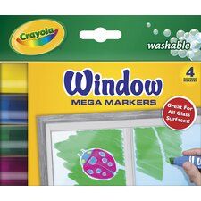 Washable Window Mega Markers (4 Pack)