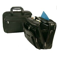 Executive Leather Two Gusset Laptop Briefcase
