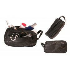 Patch Leather Design Travel Toiletries Case