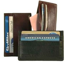 Glazed Cow Hide Leather Card Holder