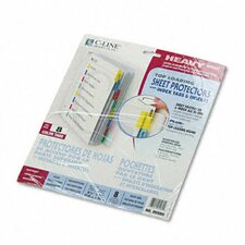 Poly Sheet Protectors with Index Tabs (8/Set)