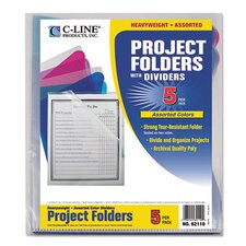 Project Folder with Dividers (5 Pack)
