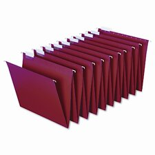 Hanging Accordion Folders, Letter Size, Red, 2 Sets of 10 Each Per Box