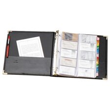 "Business Card Ring Binder, 200 Card Capacity, 11-5/8""x10-1/2"", Black"
