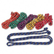 Braided Nylon Jump Ropes, 8-ft (Set of 6)
