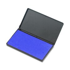 "Foam Ink Pad, 2-3/4"" x 4-1/4"", Nontoxic, Reinkable, Blue"