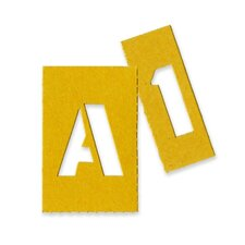 "Painting Stencil Numbers/Letters, 1"", Yellow"