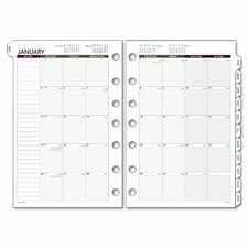 Express Monthly Planning Pages Refill, 5-1/2 x 8-1/2, 2014