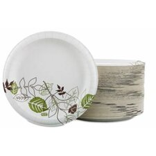 "Paper Plates, 8-1/2"" Diameter, Green/Burdundy, 125 Plates"