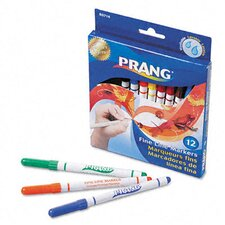 Prang Washable Markers, Fine Point (Pack of 12)