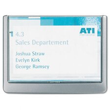 Click Sign Holders For Interior Walls, 6 3/4 x 5/8 x 5 1/8, Graphite