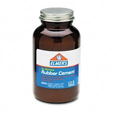 Rubber Cement, Repositionable, 8 Oz