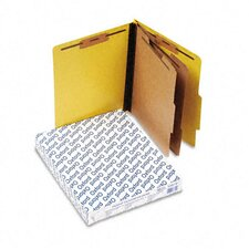 Pressguard Classification Folders, Letter, Six-Section, 10/Box