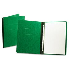 "PressGuard Report Cover, Prong Clip, Letter, 3"" Capacity, Dark Green"