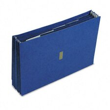 "Colored Poly Wallet, 5 1/4"" Expansion, 6 Pockets, 15 X 10"