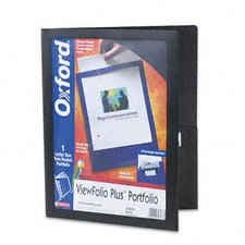 Oxford Viewfolio Plus Polypropylene Portfolio, 50-Sheet Capacity