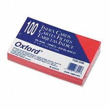 Oxford Unruled Index Cards, 3 X 5, 100/Pack