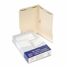 Manila Two-Fastener Classification Folders with 1/3 Cut Tabs, Legal, 50/Box