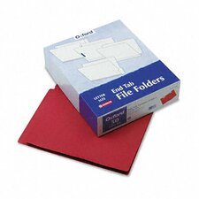 Two-Ply Expansion Folder, Two Fasteners, End Tab, Letter, 50/Box