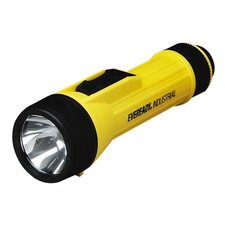 2 D Industrial Flashlight, Yellow/Black