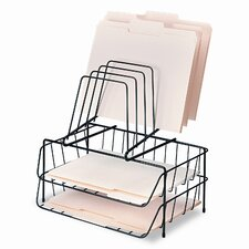 Double Tray with Step File, Eight Sections, Wire